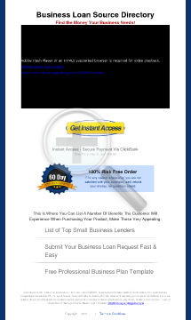 Business Loan Source Directory preview. Click for more details