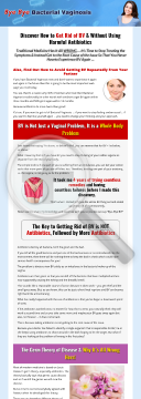 Bye Bye Bacterial Vaginosis preview. Click for more details