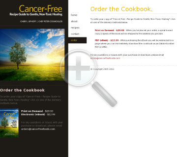 Cancer-free - Recipe Guide To Gentle, Non-toxic Healing preview. Click for more details
