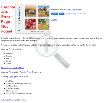 Cascoly Software & Travel preview. Click for more details