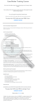 Case Broker Course preview. Click for more details
