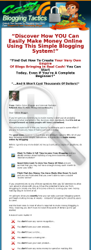 Cash Blogging Tactics preview. Click for more details