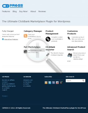 CB Press Marketplace WordPress Plugin preview. Click for more details