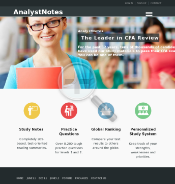 Cfa Study Notes, Practice Questions preview. Click for more details