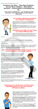 Christian Affirmations And Personalized Bible Scriptures preview. Click for more details