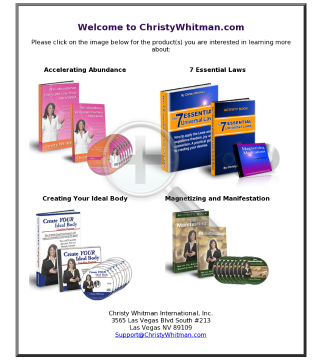 Christy Whitman - Law Of Attraction Products And Courses preview. Click for more details