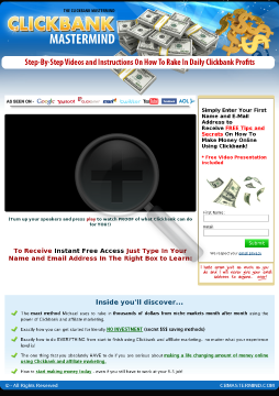 Clckbank Mastermind Affiliate Marketing Package preview. Click for more details
