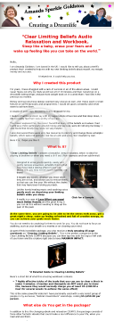 Clear Limiting Beliefs Audio And Workbook Package preview. Click for more details