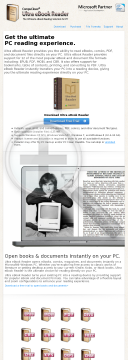 Compuclever Ultra Ebook Reader preview. Click for more details