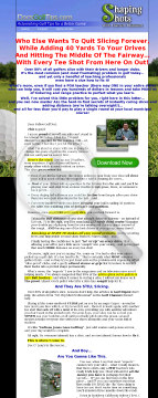 Controlling Your Golf Shot Video Download preview. Click for more details