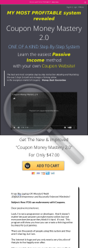 Coupon Money Mastery 2.0, High Conversion, High Commission preview. Click for more details