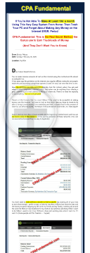 Cpa Fundamental: The Ultiamte Guide To Cpa Profits preview. Click for more details