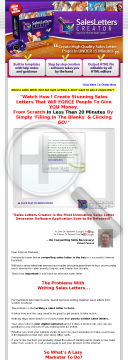 Create Instant Sales Letters With Sales Letters Creartor preview. Click for more details