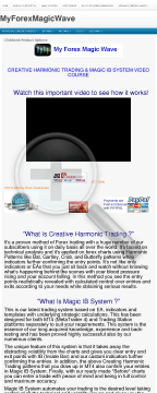 Creative Harmonic Trading & Magic IB System Video Course For Forex preview. Click for more details