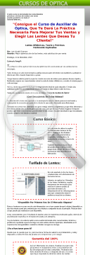 Curso De Auxiliar De Optica preview. Click for more details