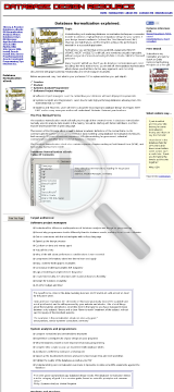 Database Normalization Ebook(r. preview. Click for more details