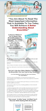 Dealing With Bronchitis, Overcoming Bronchitis And Its Health Effects preview. Click for more details