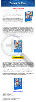 Dementia Care Book preview. Click for more details