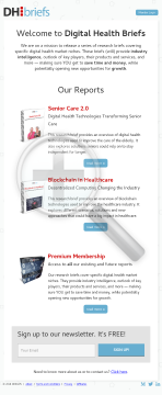 Digital Health Briefs preview. Click for more details
