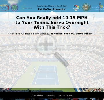 Discover And Eliminate Your #1 Serve Killer preview. Click for more details