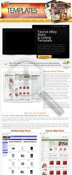 Diy Easy-to-use Professional eBay<sup>&reg;</sup> Store & Listing Template preview. Click for more details