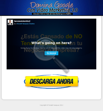 Domina Google Con Video Marketing 2.0 preview. Click for more details