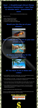 Dr. Joe Vitale's Attract Money Now Meditation preview. Click for more details