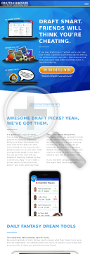 Draft Dashboard - Brilliant Daily Fantasy Sports Tools preview. Click for more details