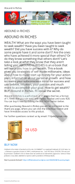 E-book:abound In Riches preview. Click for more details