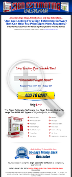 Earn 50% Commission - Sign Estimating Calculator For Sign Shops preview. Click for more details