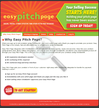 Easy Pitch Page And Thank You Page Builder preview. Click for more details