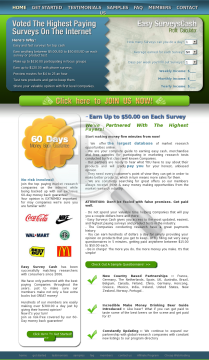 Easy Surveys Cash -- Earn Over $100 Per Sale preview. Click for more details