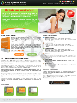 Easy System Cleaner preview. Click for more details