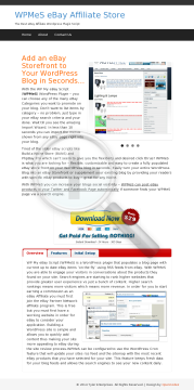 eBay<sup>®</sup> Affiliate WordPress Plugin preview. Click for more details