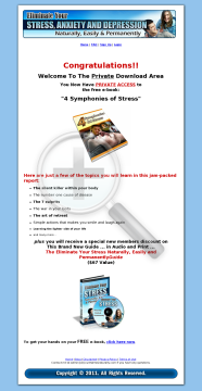 Eliminate Stress Naturally, Easily And Permanently preview. Click for more details