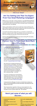 Email Success By Design preview. Click for more details