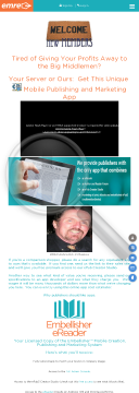 """Embellisher Ebook Mobile Marketing And Creation """"3-in-1"""" App preview. Click for more details"""