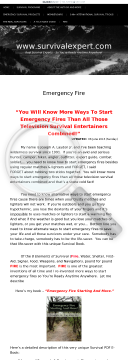 Emergency Fire Starting And More! preview. Click for more details