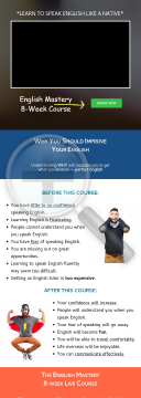 English Mastery 8-week Courses preview. Click for more details