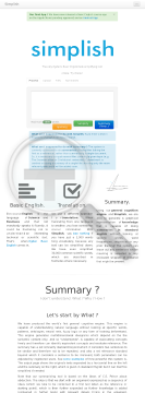 English Simplifying & Summarizing Tool - Using Basic English preview. Click for more details