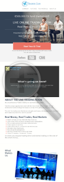Eur 500k Live FX Trading Room - $1 Trial Recurring Commision preview. Click for more details