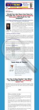 Extreme Speed Reading Ebook preview. Click for more details
