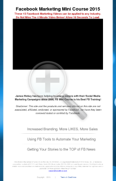 Facebook Marketing Mini Course preview. Click for more details