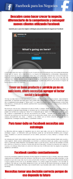 Facebook Para Los Negocios preview. Click for more details
