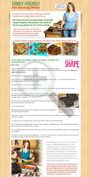 Family Friendly Fat Burning Meals preview. Click for more details