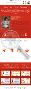 Fast Lean Down Program - High Converting In Weight Loss preview. Click for more details