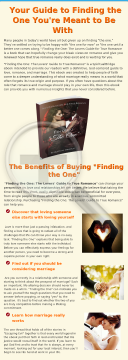 Finding The One: The Lovers' Guide To True Romance preview. Click for more details