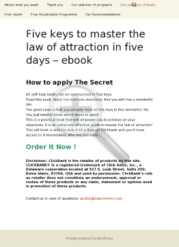Five Keys To Master The Law Of Attraction In Five Days preview. Click for more details