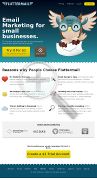 Fluttermail Email Marketing preview. Click for more details