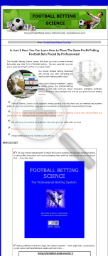 Football Bet Science preview. Click for more details